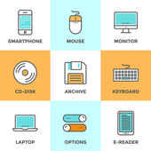 Technology devices  icons set — Stock Vector