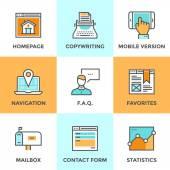 Website elements  icons set — Stockvector