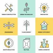 Green technology and clean energy  icons — Stockvector