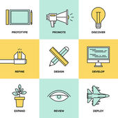 Studio product development  icons — 图库矢量图片