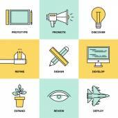 Studio product development  icons — Stock Vector