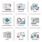 Ikony biznes i finanse — Wektor stockowy