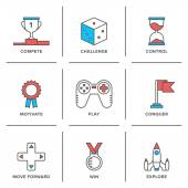 Competitive advantage  icons — Stock Vector