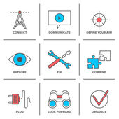 Technical service  icons set — Stock Vector
