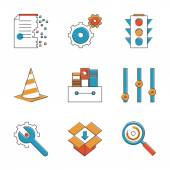 Basic work elements  icons — Stock Vector