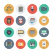 Sound flat icons set — Stockvektor  #65035029