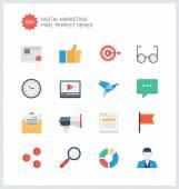 Digital marketing flat icons — Vector de stock