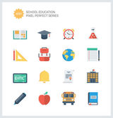 Education items  icons set — Stock Vector