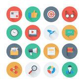 Iconos de mercadotecnia digitales — Vector de stock
