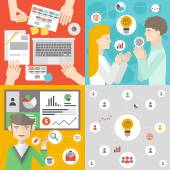 Business meeting and teamwork  illustration — Stock Vector