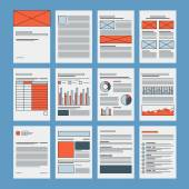 Business documents and company papers — Stock Vector