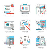 Business and finance accounting  icons — Vector de stock