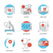 Medical services  icons — Stock Vector