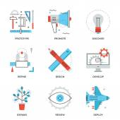 Product design services  icons — Stock Vector