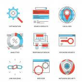 Search engine optimization  icons — Stock Vector