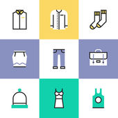 Everyday clothes  icons set — Stock Vector