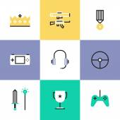 Indie gaming elements  icons — Stock Vector