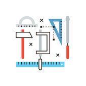 Engineering tools  icon concept — Vector de stock
