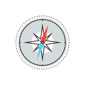 Navigational compass flat line icon — Wektor stockowy