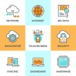 Cloud computing line icons set — Stock Vector #70289977