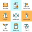 Travel and vacation line icons set — Stock Vector #70289979