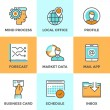 Business workflow line icons set — Stok Vektör #70290029