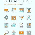 SEO and web optimization icons — Stock Vector #72038397