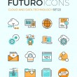 Cloud technology futuro line icons — Stock Vector #72038407