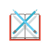 Pencil and notebook icon — Stock Vector