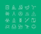 Bio technology elements icons set — Stock Vector
