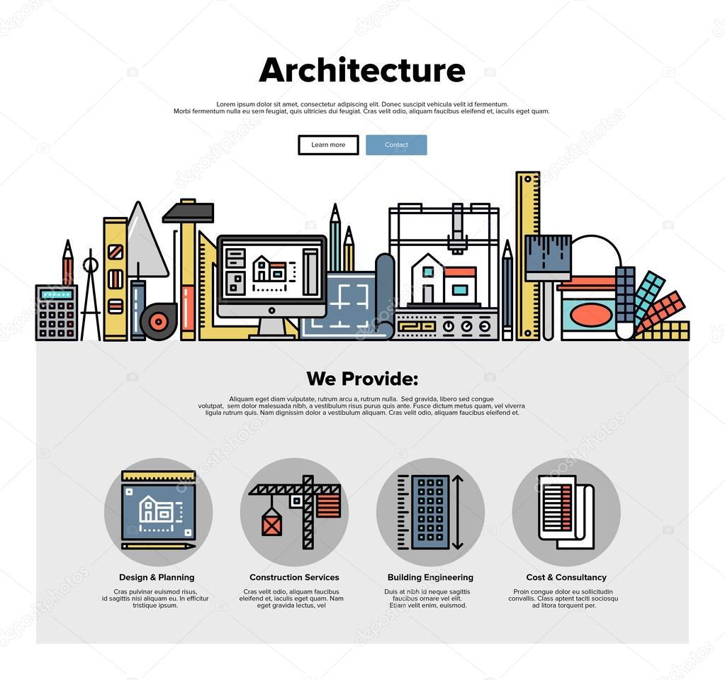 Architettura ingegneria piatto di grafica web vettoriali for Software di pianificazione del sito di costruzione