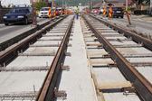 Железнодорожной строительной площадки — Стоковое фото