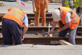 Railway workers — Stock Photo