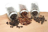 Different types of pepper — Stock Photo