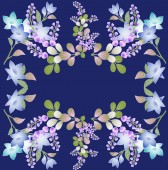 Hand drawn floral background — Stock Photo