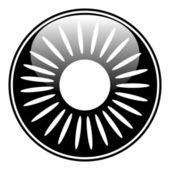 Sun button — Stock Vector