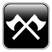 Crossed axes button — Stock Vector