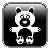 Bear button — Stock Vector