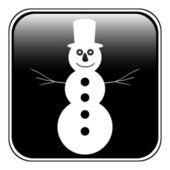Snowman button — Stock Vector