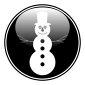 Snowman button — Stock Vector