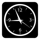 Bouton d'horloge — Vecteur