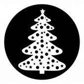 Botón de árbol de navidad — Vector de stock