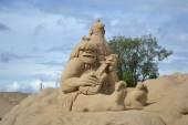 Sand Sculpture Festival in Lappeenranta — Stock Photo