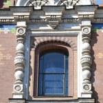 Window of orthodox church Spas na Krovi — Stock Photo #53921405
