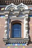 Window of orthodox church Spas na Krovi — Stock Photo