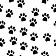 Paw seamless pattern — Stock Vector #54615827