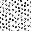 Paw seamless pattern — Stock Vector #54615859