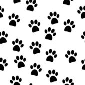 Paw seamless pattern — Stock Vector