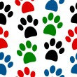 Paw seamless pattern — Stock Vector #54633749