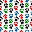 Paw seamless pattern — Stock Vector #54633773